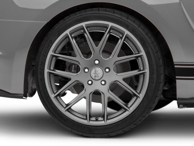 Shelby Style SB202 Charcoal Wheel; Rear Only; 19x10.5 (15-20 GT, EcoBoost, V6)