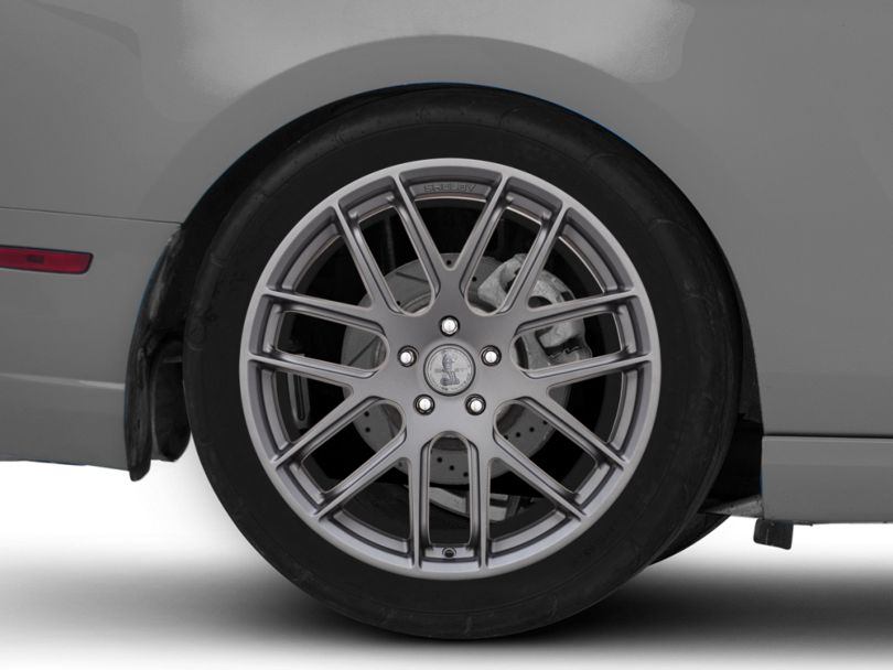 Shelby Style SB202 Charcoal Wheel; Rear Only; 20x10.5 (10-14 All)