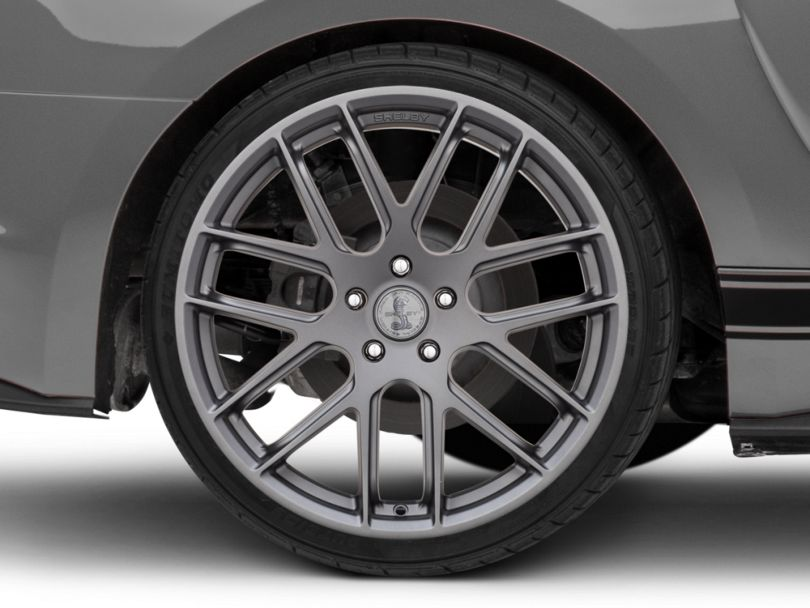 Shelby Style SB202 Charcoal Wheel; Rear Only; 20x10.5 (15-20 GT, EcoBoost, V6)