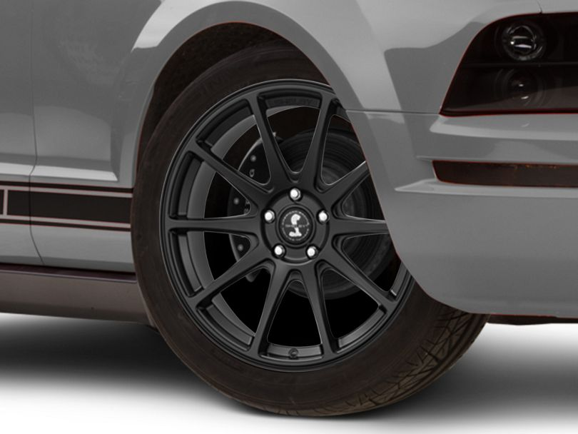 Shelby Style SB203 Satin Black Wheel - 19x10.5 - Rear Only (05-09 All)