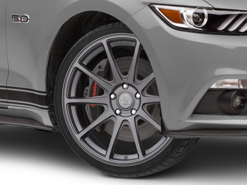 Shelby Style SB203 Charcoal Wheel; 19x9.5 (15-20 GT, EcoBoost, V6)