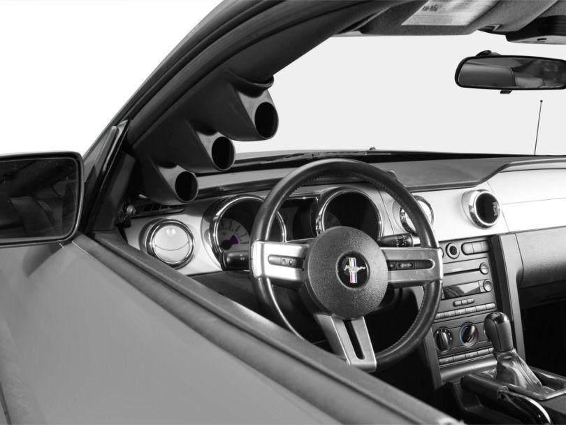 Auto Meter Full A-Pillar Gauge Pod; Triple 2-1/16 Inch (05-09 Coupe)