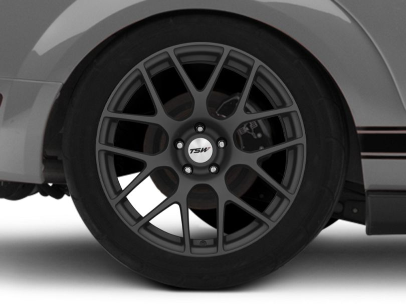 TSW Nurburgring Matte Gunmetal Wheel; Rear Only; 19x10.5 (05-09 All)