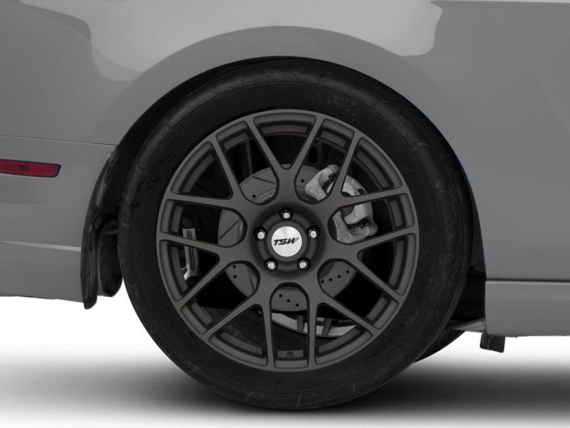 TSW Nurburgring Matte Gunmetal Wheel; Rear Only; 19x10.5 (10-14 All)