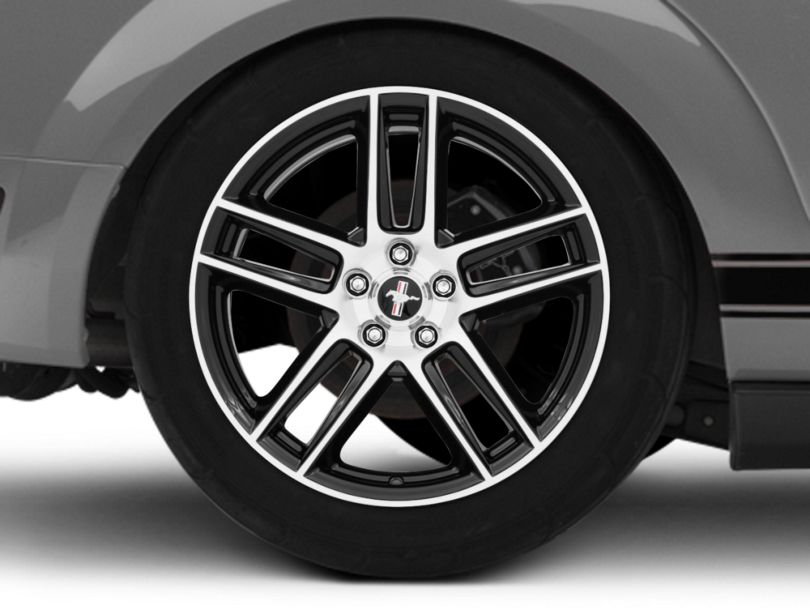Ford Performance Boss 302S Gloss Black w/ Machined Face Wheel - 19x10 - Rear Only (05-09 All)