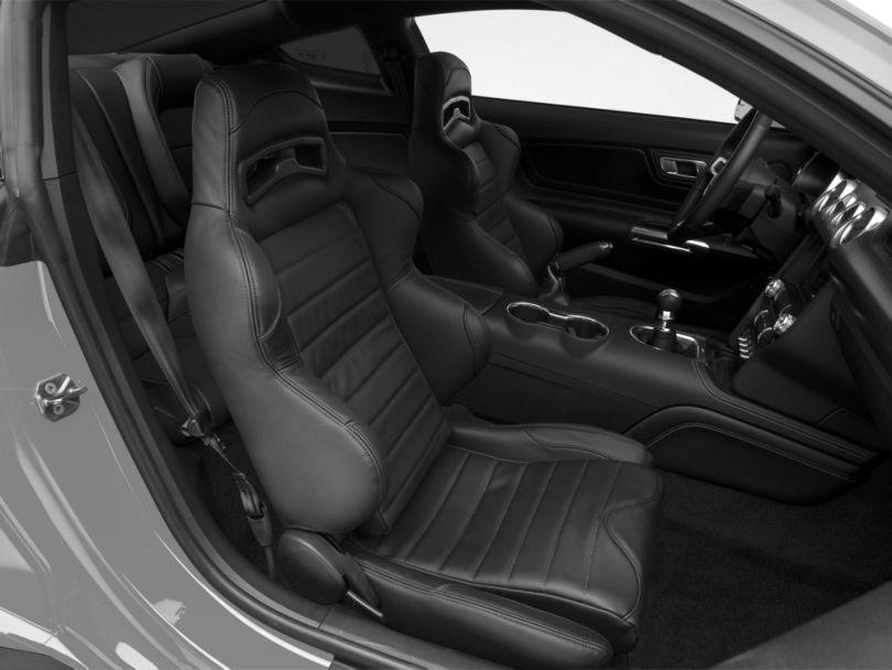 Corbeau LG1 Racing Seats; Black Leather; Pair (79-20 All)