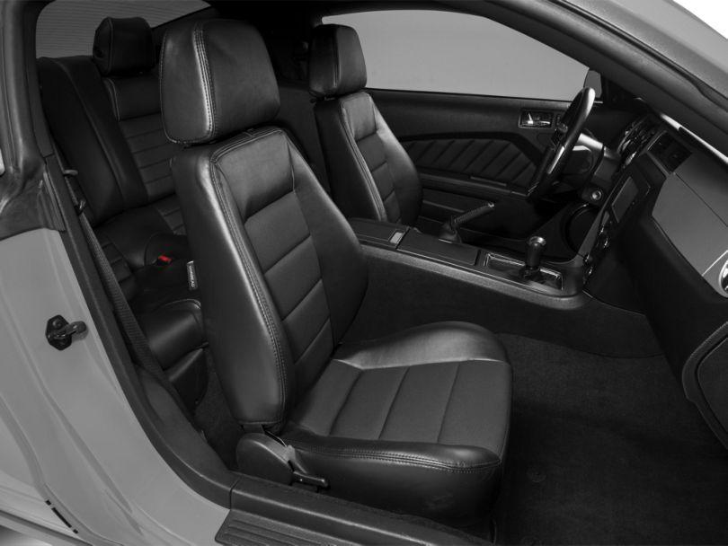 Corbeau Sport Seats Reclining Seats - Black Vinyl/Cloth - Pair (79-20 All)