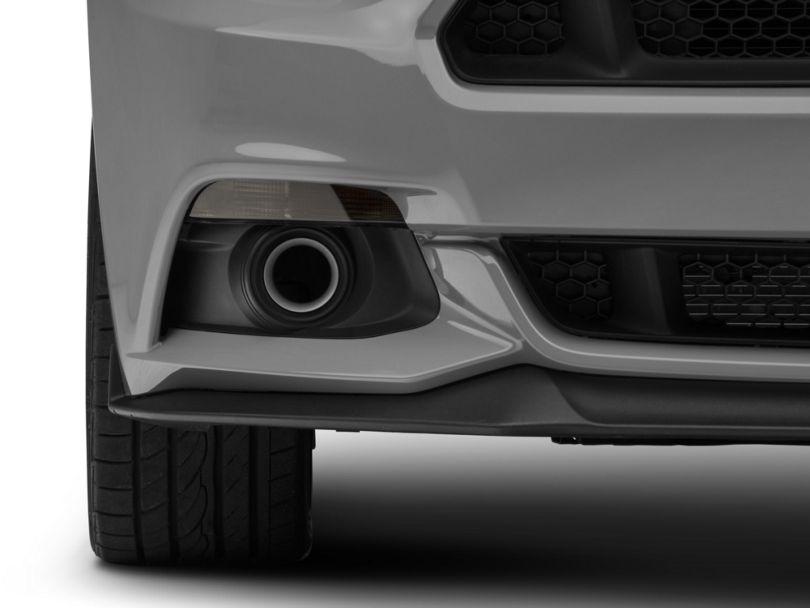 JLT Fog Light Delete Grille Bezels - Silver (15-17 GT, EcoBoost, V6)