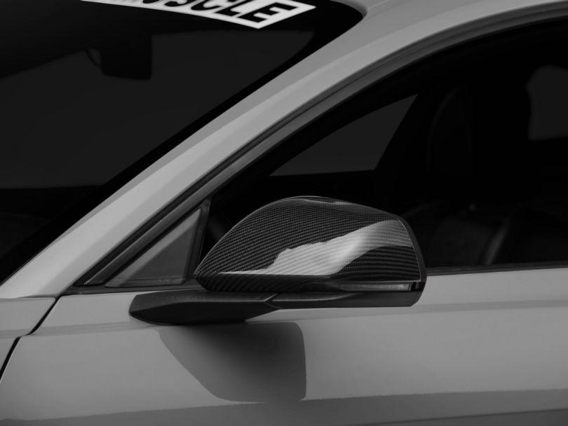 Mirror Covers; Carbon Fiber (15-20 GT, EcoBoost, V6 w/ Mirror Signals)