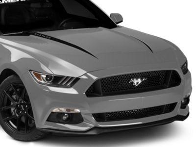 Black Hood Accent w/ Mustang Lettering (15-17 GT, EcoBoost, V6)