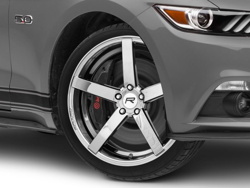Rovos Durban Black Chrome Wheel; 20x8.5 (15-20 GT, EcoBoost, V6)
