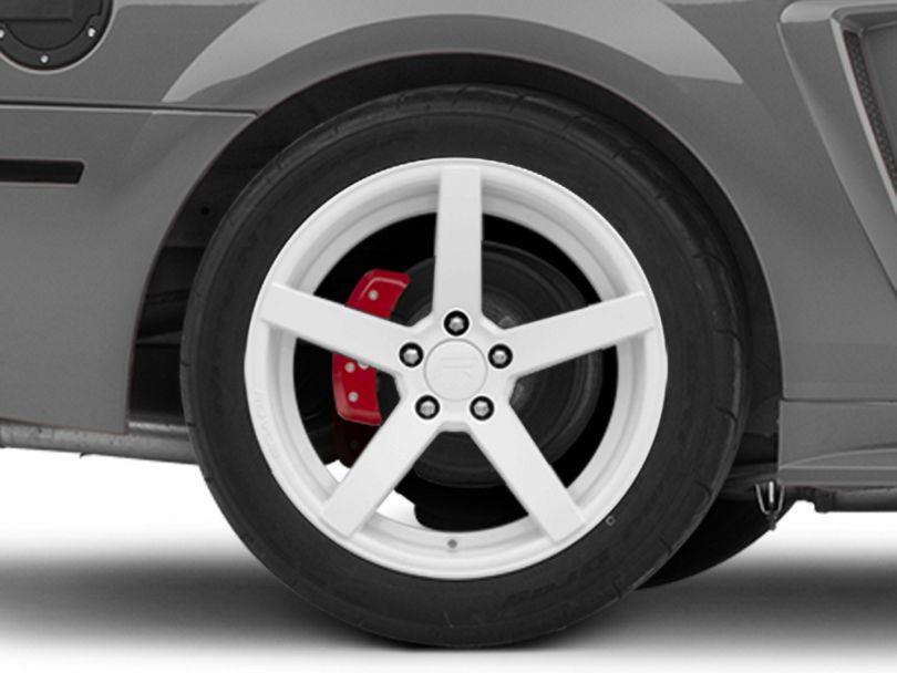 Rovos Durban Gloss White Wheel; Rear Only; 18x10.5 (99-04 All)