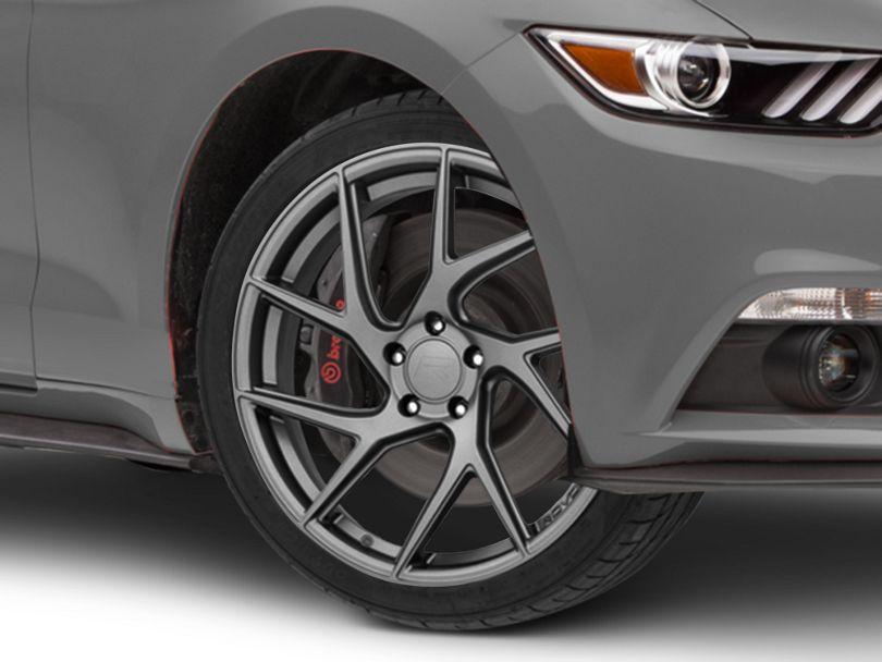 Rovos Joburg Satin Gunmetal Wheel; 20x8.5 (15-20 GT, EcoBoost, V6)