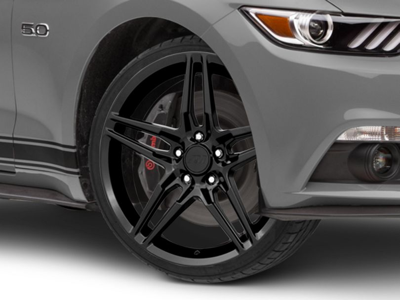 2018 Mustang Style Black Wheel - 20x9 (15-20 GT, EcoBoost, V6)