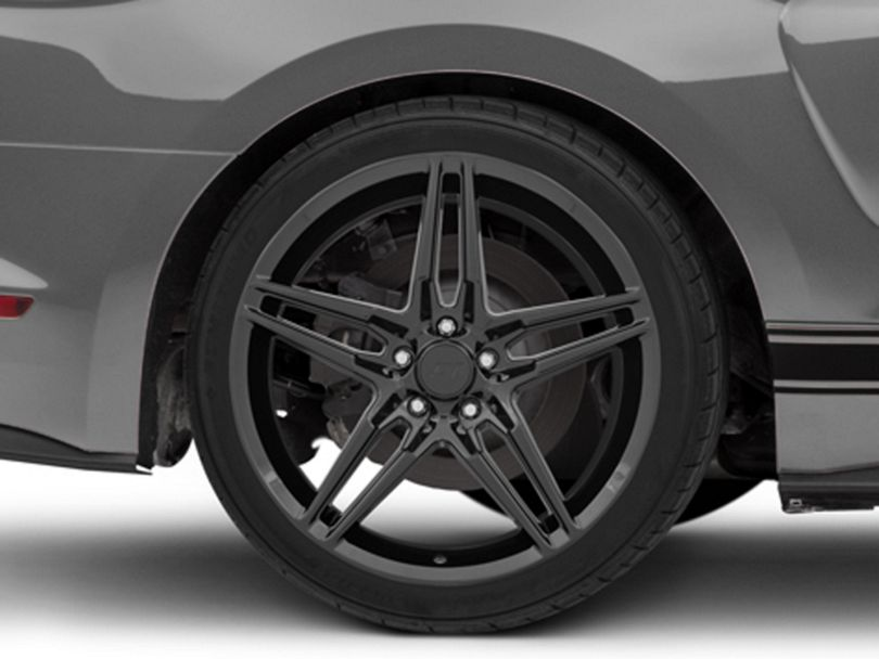 2018 Mustang Style Black Wheel; Rear Only; 20x10 (15-20 GT, EcoBoost, V6)