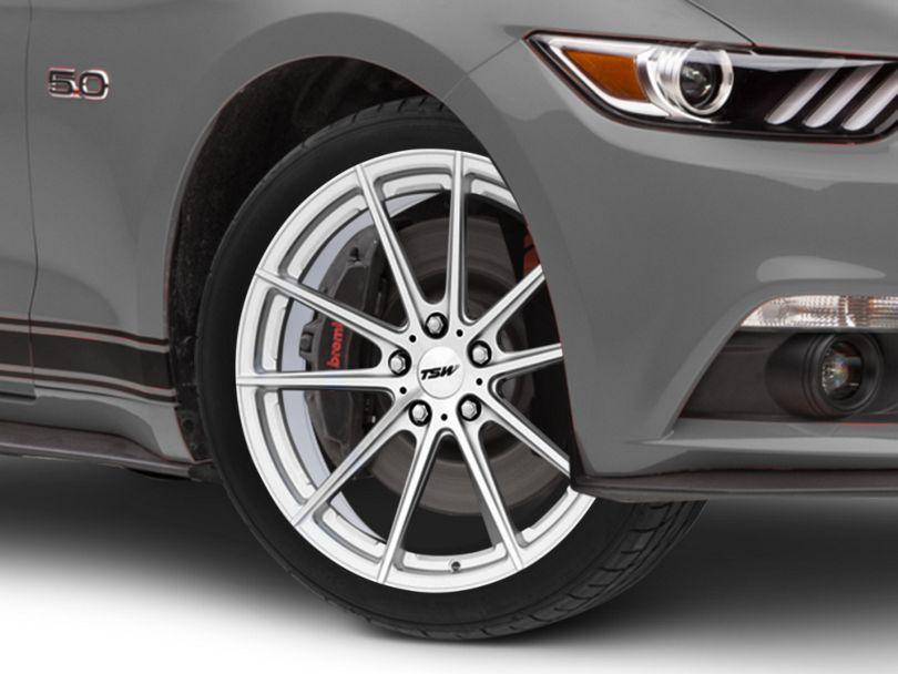TSW Bathurst Silver Wheel; 19x8.5 (15-20 GT, EcoBoost, V6)