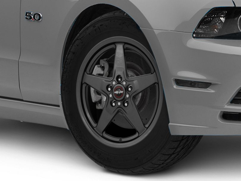 Race Star 92 Drag Star Bracket Racer Metallic Gray Wheel; Front Only; 17x7 (10-14 All, Excluding 13-14 GT500)