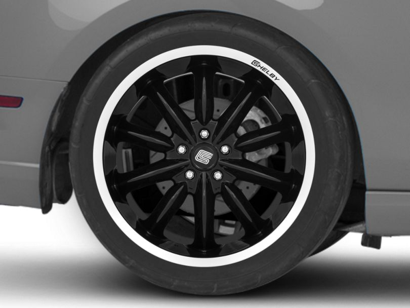 Shelby CS56 2.0 Black Wheel; Rear Only; 20x11 (10-14 All)
