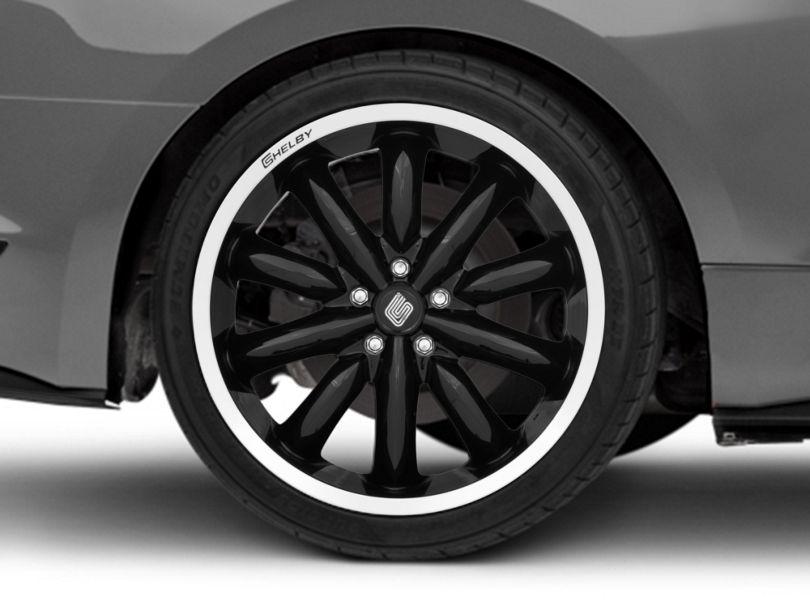 Shelby CS56 2.0 Black Wheel; Rear Only; 20x11 (15-20 GT, EcoBoost, V6)