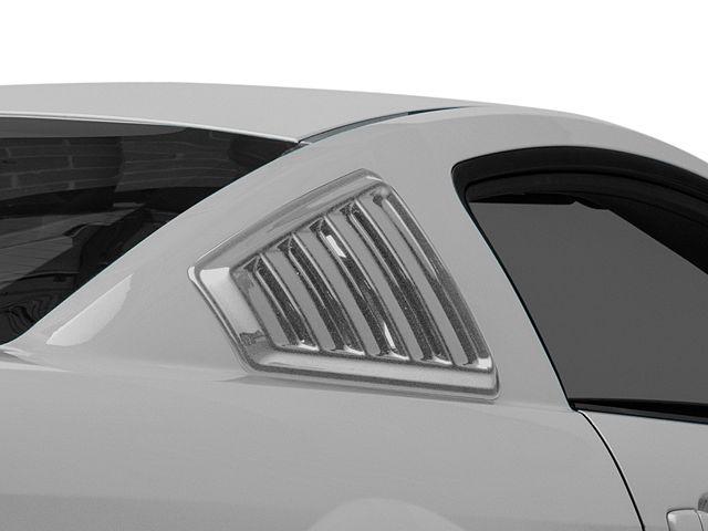 SpeedForm Quarter Window Louvers; Pre-Painted (05-14 Coupe)