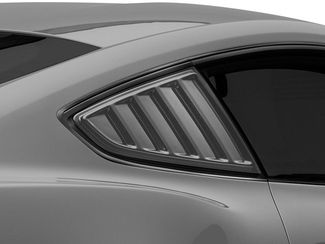 SpeedForm Quarter Window Louvers; Pre-Painted (15-20 Fastback)