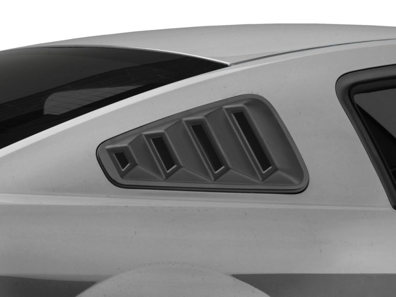 SpeedForm Quarter Window Louvers; Matte Black (05-09 Coupe)