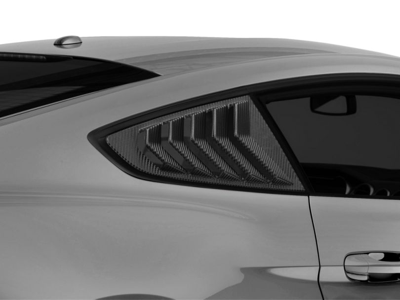 SpeedForm Sport Quarter Window Louver - Textured Carbon Appearance (15-20 Fastback)
