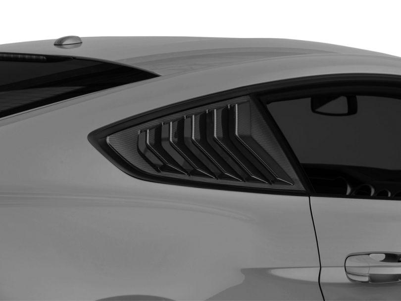 SpeedForm Sport Quarter Window Louver - Carbon Fiber Appearance (15-20 Fastback)