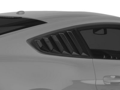 SpeedForm Vintage Quarter Window Louver - Matte Black (15-19 Fastback)