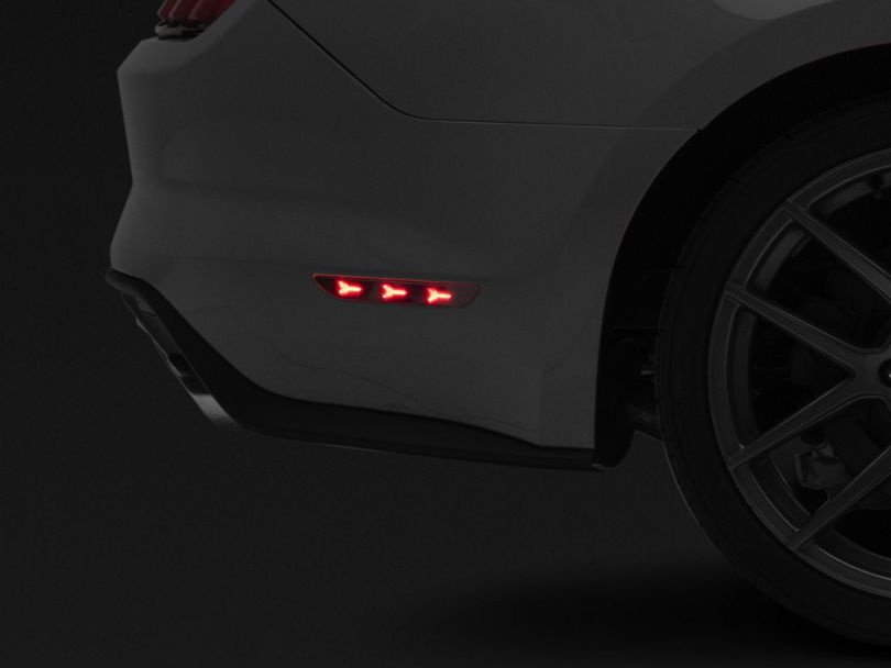 MP Concepts LED Side Marker Lights; Rear; Smoked (15-17 All)