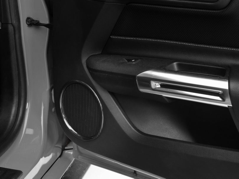 SpeedForm Door Speaker Trim; Carbon Fiber Style (15-20 All)