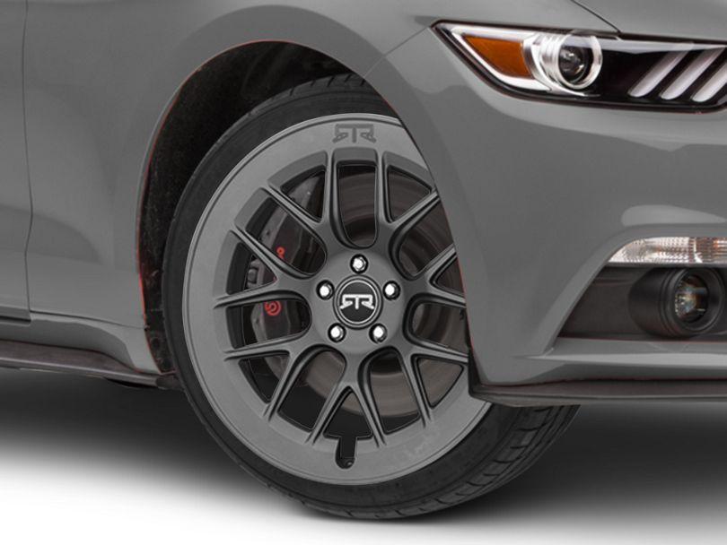 RTR Aero 7 Satin Charcoal Wheel; 20x9.5 (15-20 GT, EcoBoost, V6)