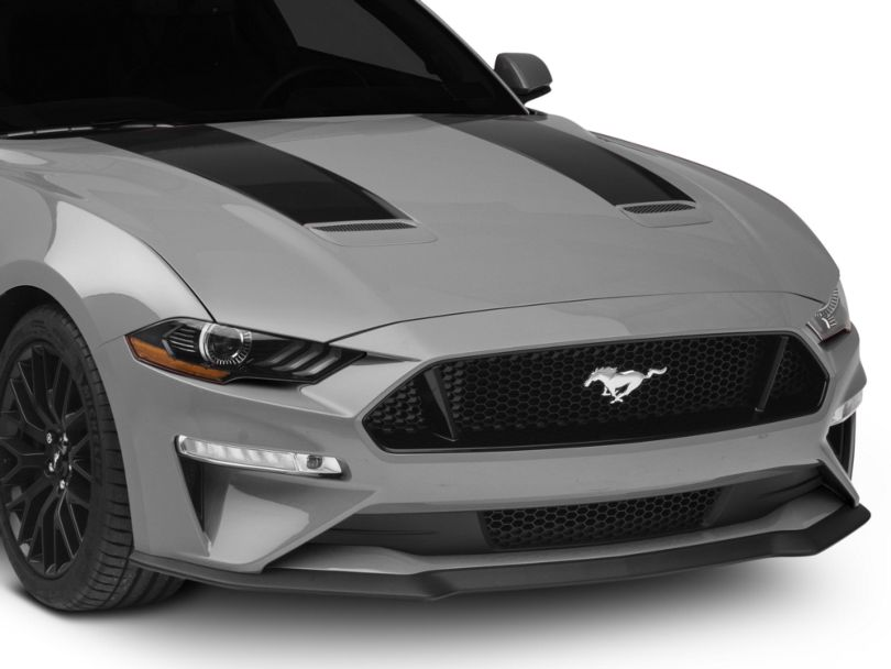 American Muscle Graphics Hood Stripes; Black (18-20 GT, EcoBoost)