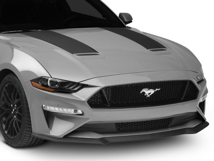 American Muscle Graphics Hood Stripes - Black Carbon (18-20 GT, EcoBoost)