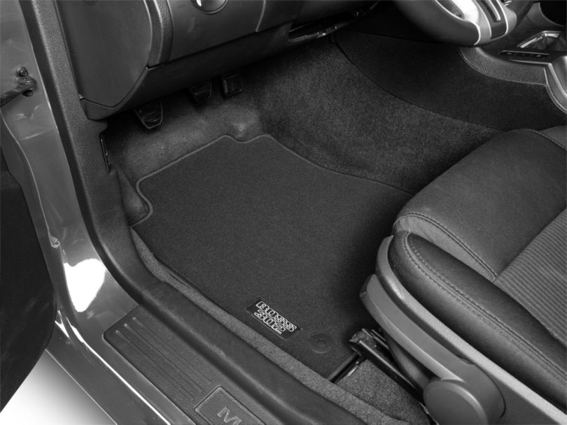 Ford Performance Front Floor Mats with BOSS 302 Logo; Black