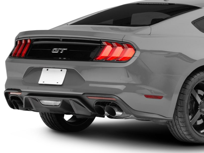 MMD by FOOSE Rear Diffuser Fins; Pre-Painted (18-20 GT; 19-20 EcoBoost w/ Active Exhaust)