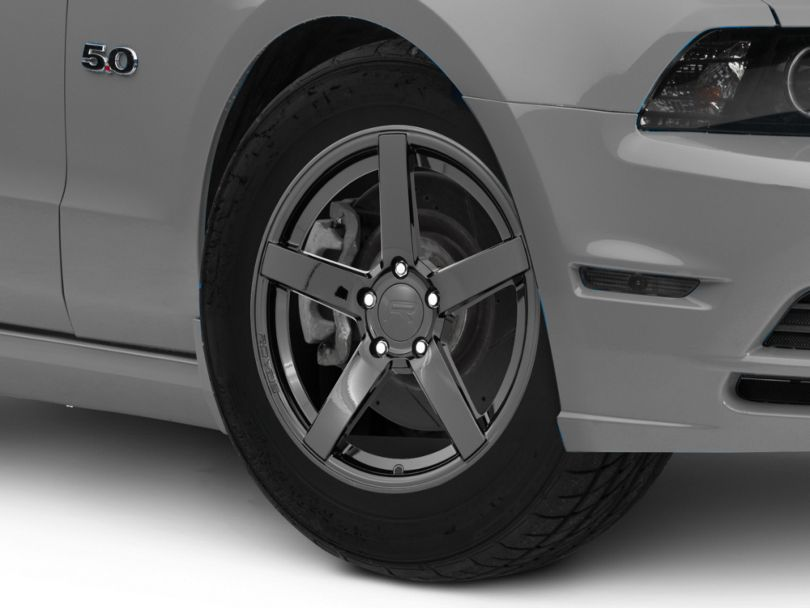 Rovos Durban Drag Gloss Black Wheel; Front Only; 17x4.5 (10-14 All)