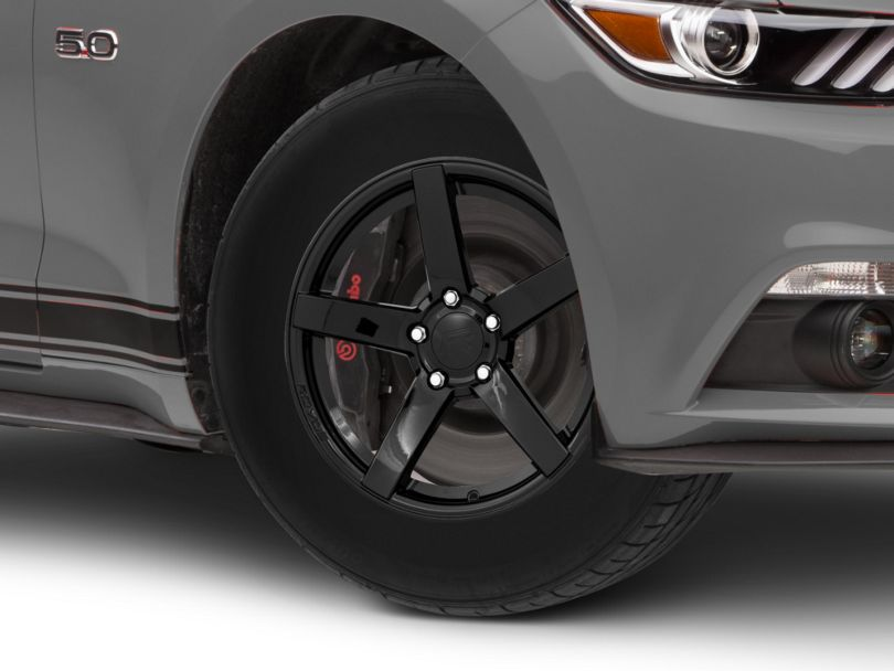 Rovos Durban Drag Gloss Black Wheel - 17x10.5 - Rear Only (15-20 GT, EcoBoost, V6)