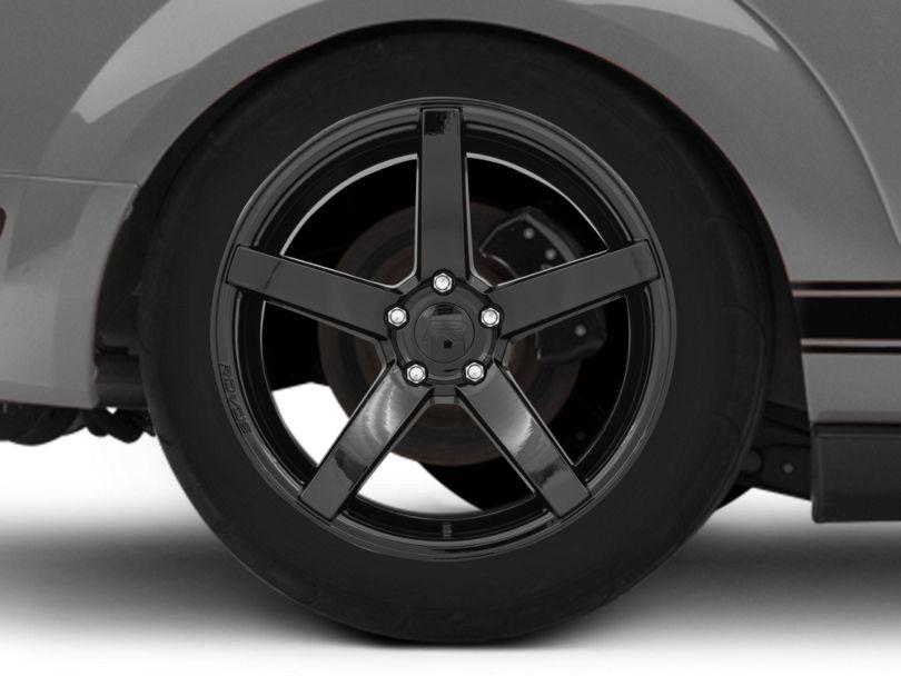 Rovos Durban Gloss Black Wheel; Rear Only; 19x10 (05-09 All)