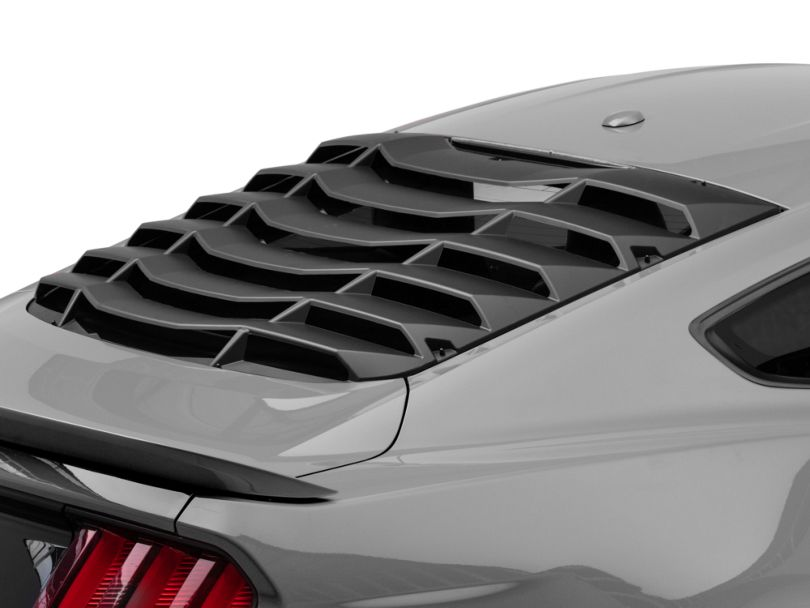 MP Concepts Rear Window Louvers; Matte Black (15-20 Fastback)