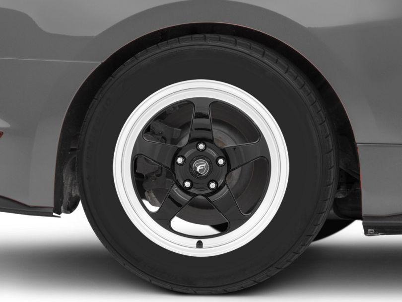 Forgestar D5 Drag Black Machined Wheel - 17x10 - Rear Only (15-20 GT, EcoBoost, V6)