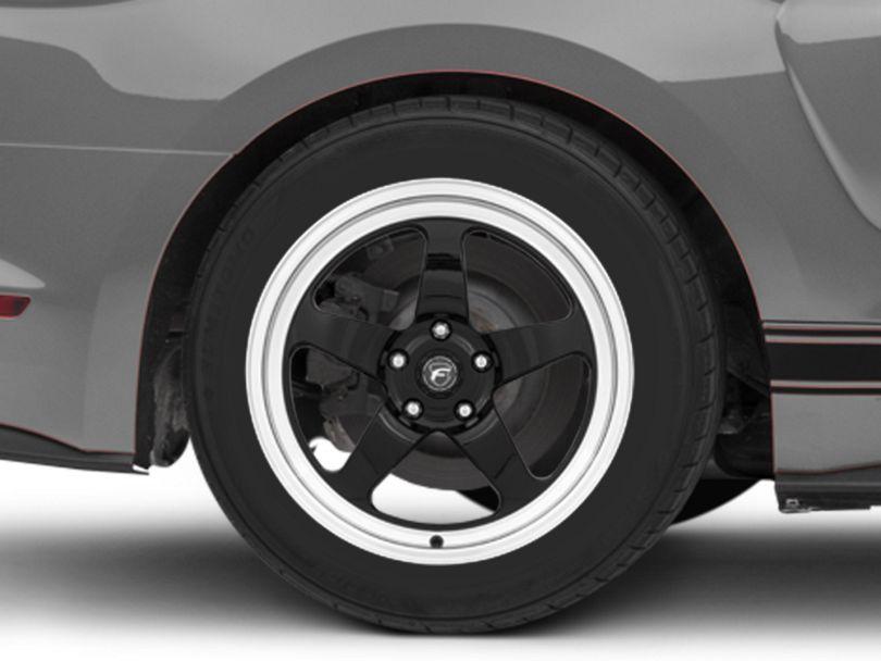 Forgestar D5 Drag Black Machined Wheel - 18x11 - Rear Only (15-20 GT, EcoBoost, V6)