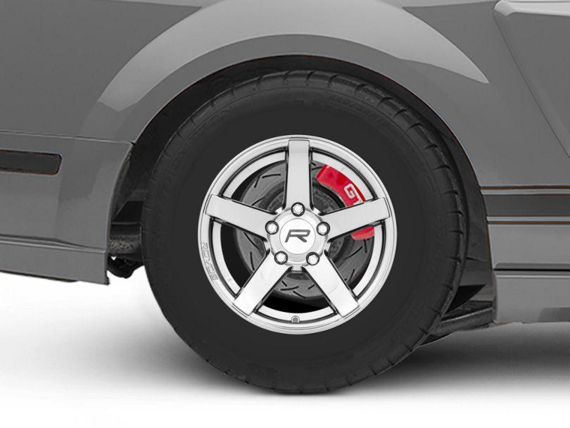 Rovos Durban Drag Black Chrome Wheel; Rear Only; 15x10 (05-09 All)