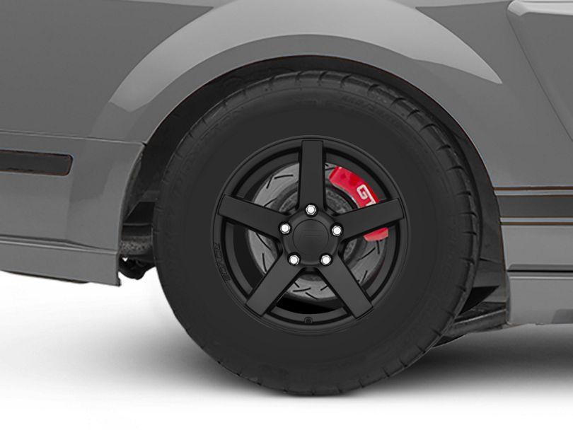Rovos Durban Drag Satin Black Wheel; Rear Only; 15x10 (05-09 All)