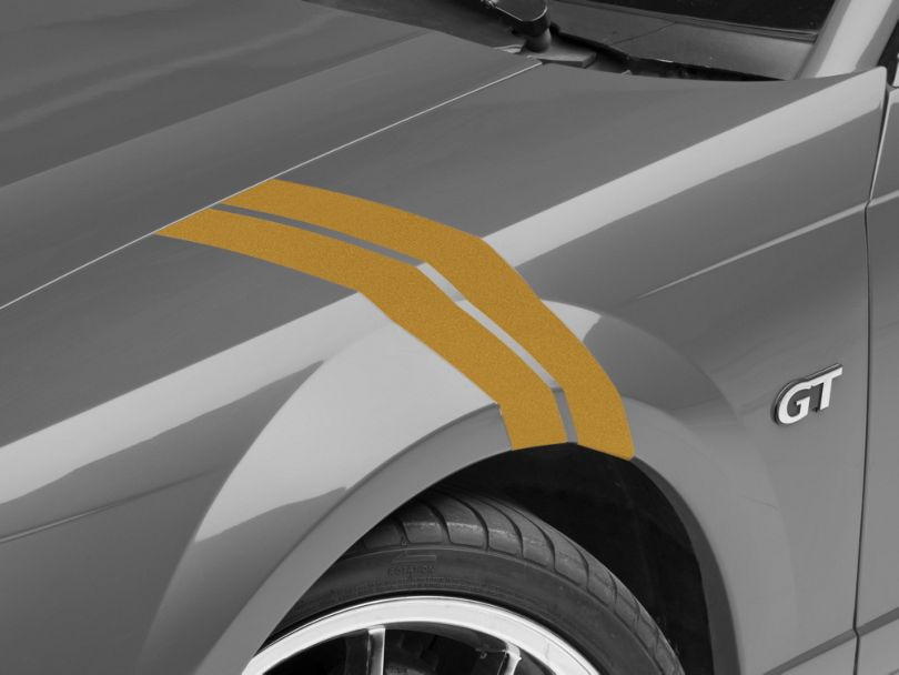 American Muscle Graphics Gold Hash Marks (94-04 All)