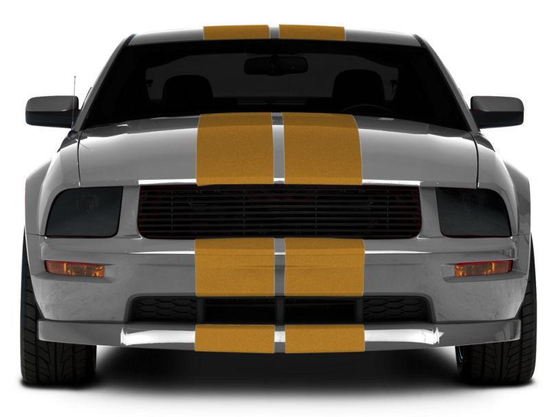 American Muscle Graphics Gold GT500 Style Stripes - 10 in. (05-14 All)