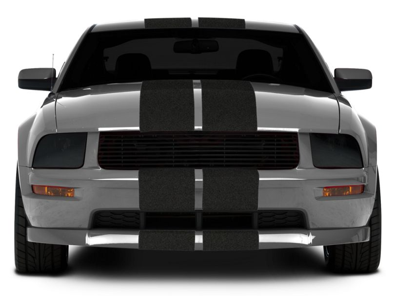 American Muscle Graphics Anthracite GT500 Style Stripes - 10 in (05-14 All)
