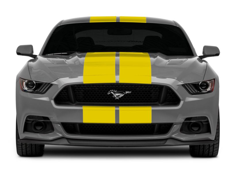 American Muscle Graphics Yellow GT500 Style Stripes - 10 in. (15-20 All)