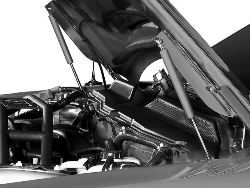 MMD Bolt On Hood Strut Kit; Chrome (05-14 All)