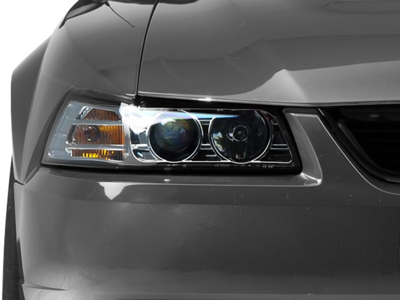 Axial Projector Headlights; Chrome (99-04 All)